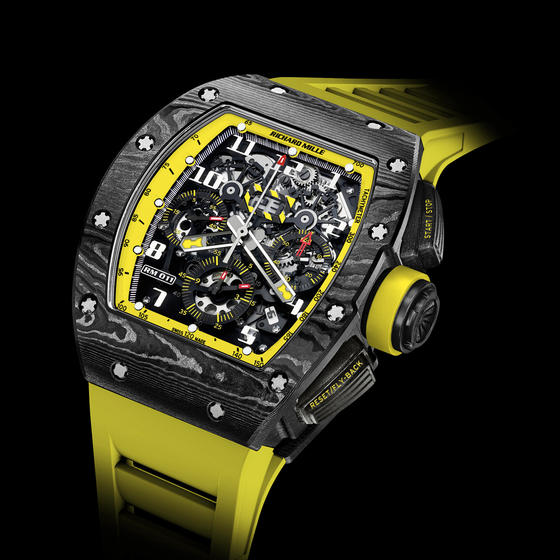 Replica Richard Mille 2015 RM 011 FLYBACK CHRONOGRAPH YELLOW STORM Men Watch