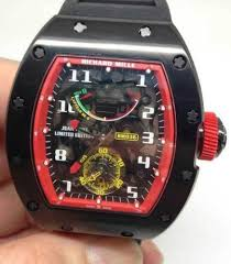 Replica Richard Mille RM 036 black case Red shadow Men Watch