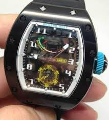 Replica Richard Mille RM 036 black case white shadow Men Watch