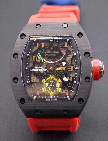 Replica Richard Mille RM 036 carbon RED Men Watch