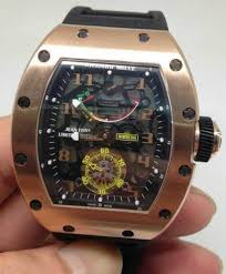 Replica Richard Mille RM 036 gold case black shadow Men Watch