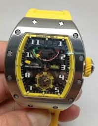 Replica Richard Mille RM 036 white case yellow shadow Men Watch