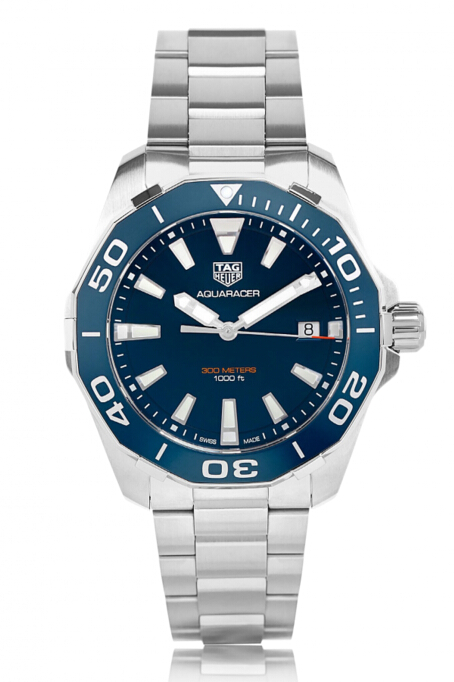 Buy Discount TAG Heuer Aquaracer Quartz Stainless Steel Blue Dial Mens Watch WAY111C.BA0928