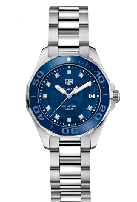 Buy Discount Tag Heuer Aquaracer Quartz Stainless Steel Blue Dial Ladies Watch WAY131L.BA0748