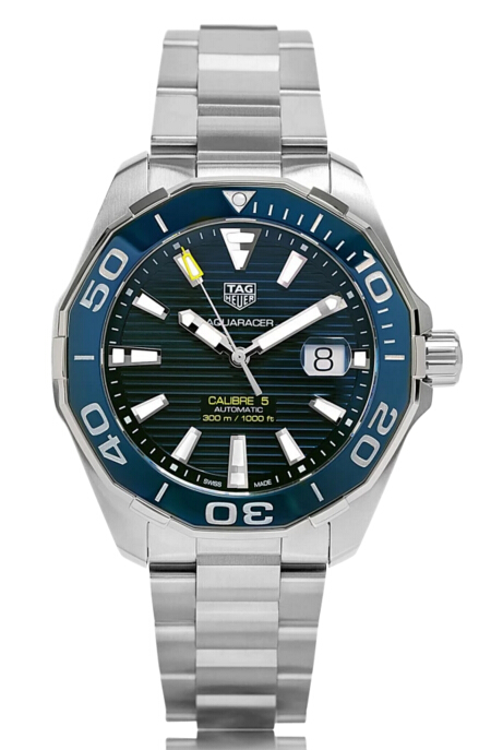 Buy Discount TAG Heuer Aquaracer Automatic Stainless Steel Blue Dial Mens Watch WAY201B.BA0927