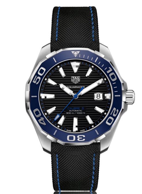 Buy Discount Tag Heuer Aquaracer Automatic Stainless Steel Black Dial Mens Watch WAY201C.FC6395