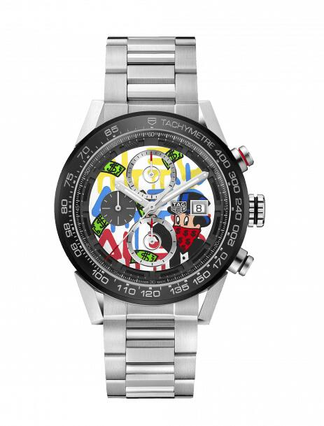Discount 2019 TAG Heuer Carrera Calibre Heuer 01 Alec Monopoly Special Decoration CAR201AA.BA0714 watch