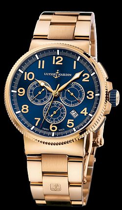Replica Ulysse Nardin Marine Chronograph Manufacture 1506-150-8M/63 replica Watch