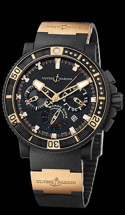 Replica Ulysse Nardin Black Sea Chronograph 353-90-3 replica Watch
