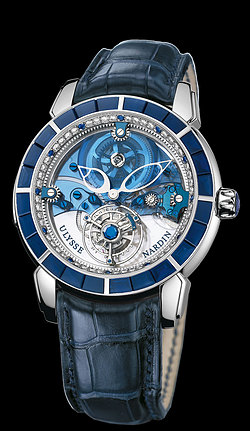 Replica Ulysse Nardin Exceptional Royal Blue Tourbillon Haute Joaillerie 799-90BAG replica Watch