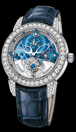 Replica Ulysse Nardin Exceptional Royal Blue Tourbillon Haute Joaillerie 799-93 replica Watch