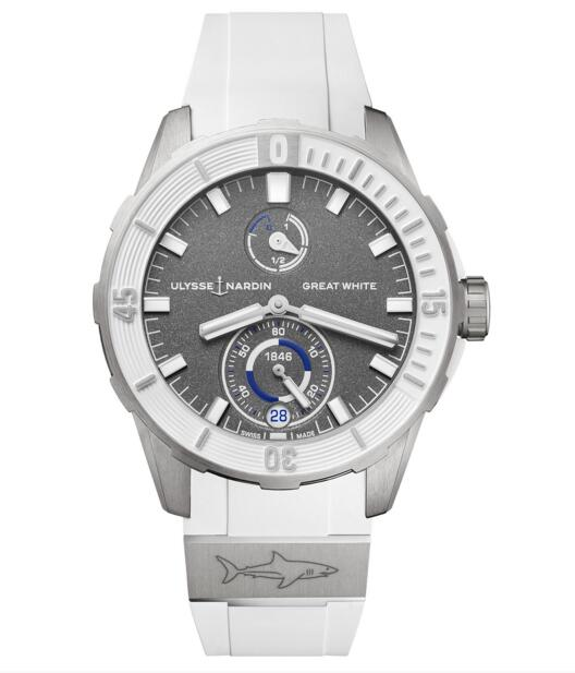 Cheap Ulysse Nardin Diver Chronometer Great White Limited Edition 1183-170LE-3/90-GW watch Review