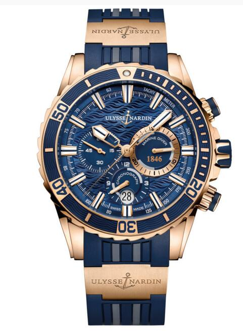 Luxury Fake Ulysse Nardin Diver Chronograph 1502-151-3/93 watch Cheap