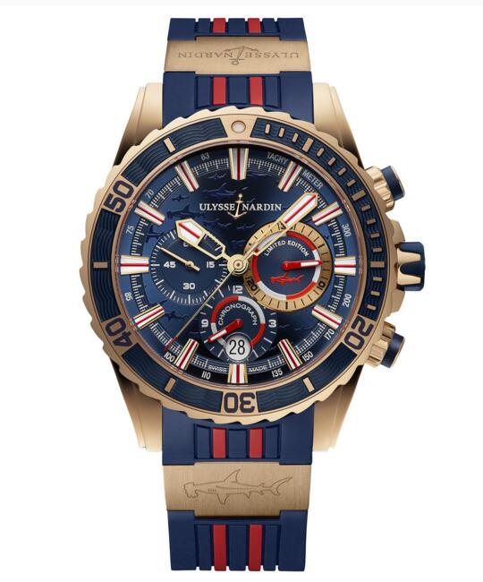 Luxury Fake Ulysse Nardin Diver Chronograph 1502-151LE-3/93-HAMMER watch Cheap