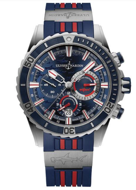 Luxury Fake Ulysse Nardin Diver Chronograph 1503-151LE-3/93-HAMMER watch Cheap