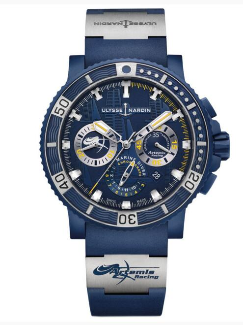 Luxury Fake Ulysse Nardin Diver Black Sea Chronograph 353-98LE-3/ARTEMIS watch Cheap