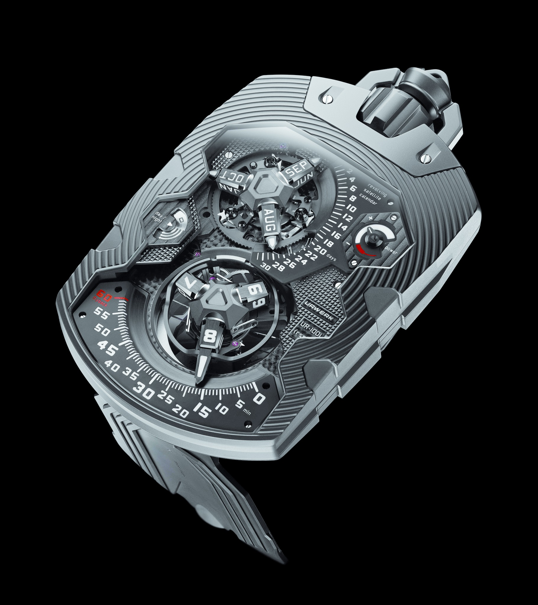Replica Urwerk UR-1001 Zeit Device AlTiN-Coated Steel Watch
