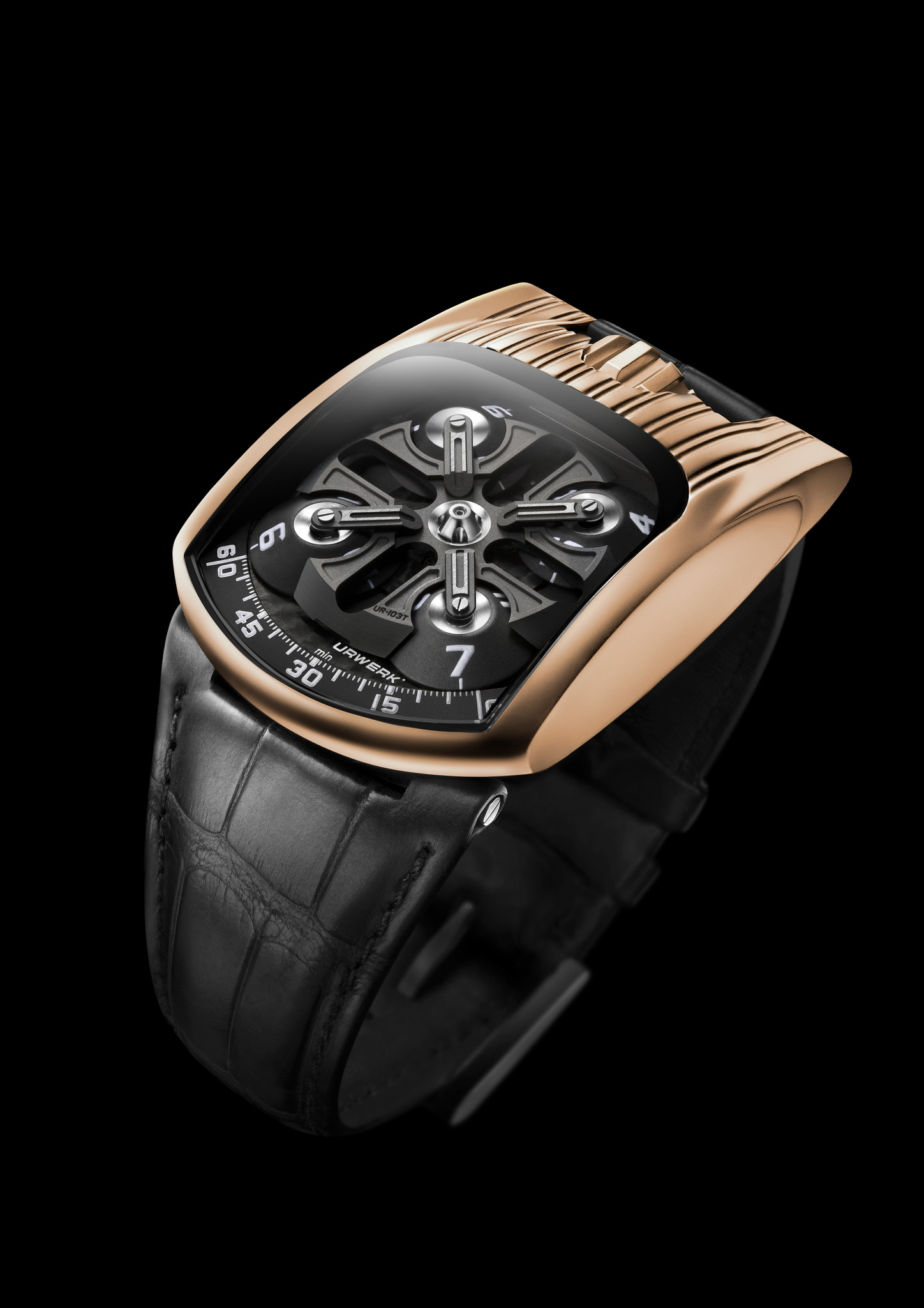 Replica Urwerk UR-103T Red Gold Watch