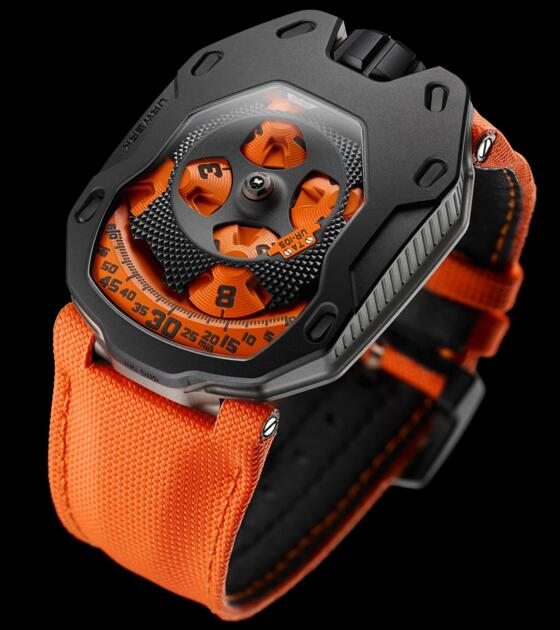 Replica Urwerk Watches for Sale—Exact Replica Urwerk UR-105 TA BLACK ORANGE watches