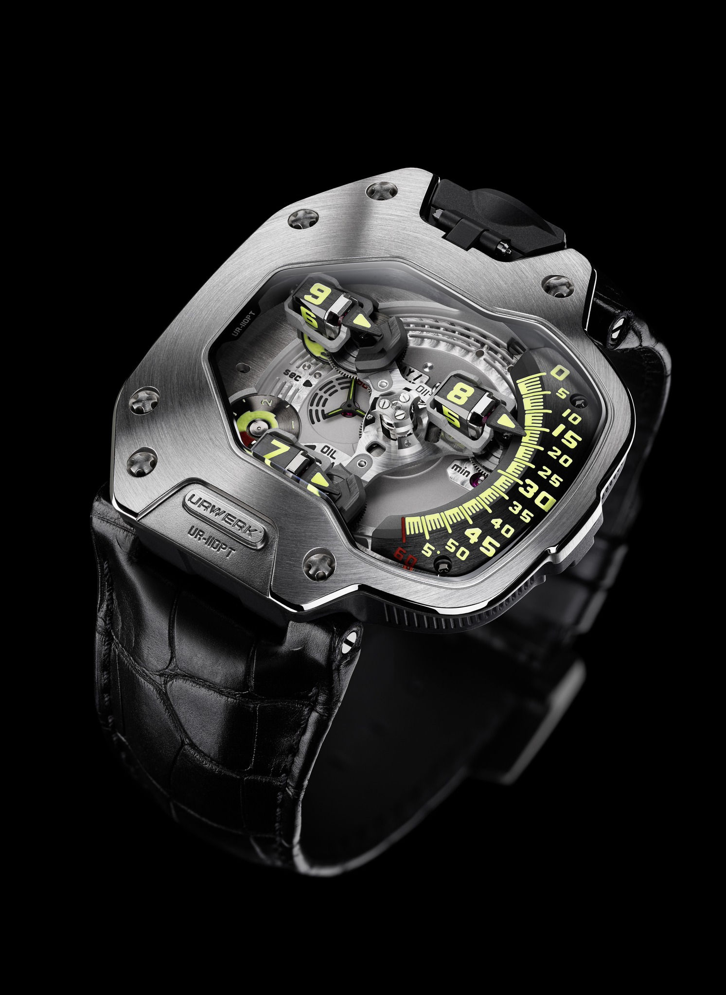 Replica Urwerk UR-110 PT Titanium and Platinum Watch