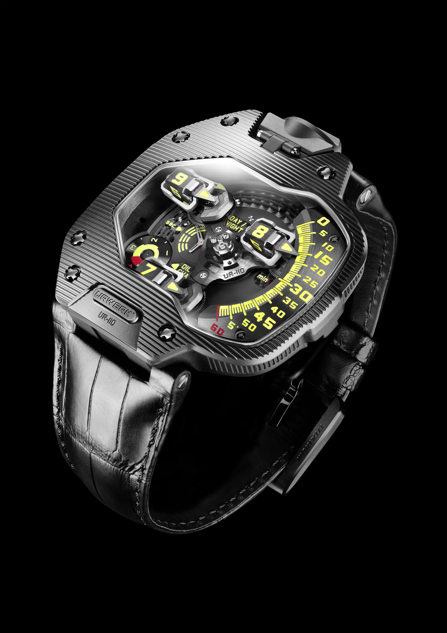 Replica Urwerk UR-110 ST Black DLC Titanium Watch