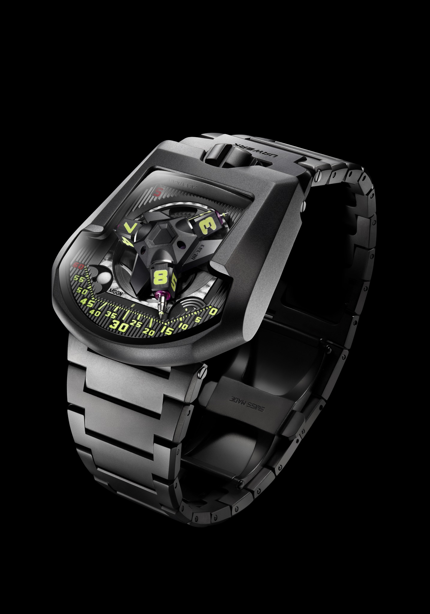 Replica Urwerk UR-202S The Hammerhead AlTiN-Coated Steel Watch