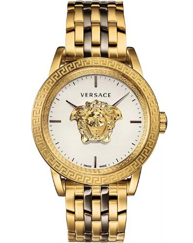 Cheap Versace Men's Swiss Palazzo Empire Two-Tone Stainless Steel Bracelet Watch 43mm Replica