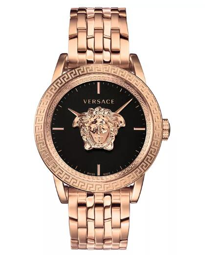 Cheap Versace Men's Swiss Palazzo Empire Rose Gold Ion-Plated Bracelet Watch 43mm Replica