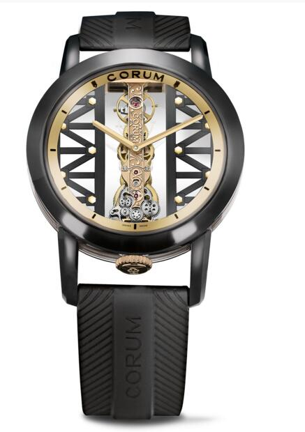 Best replica Corum Bridges Golden Bridge Round 43 B113/03831 - 113.955.95/F371 GG19R watch reviews