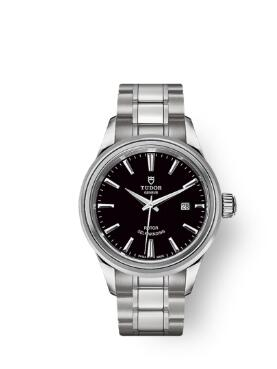 Buy Tudor Style Watch Review Replica 28 mm steel case Black dial m12100-0002
