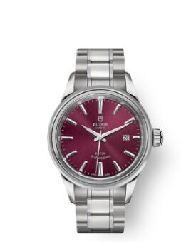 Buy Tudor Style Watch Review Replica 28 mm steel case Burgundy dial m12100-0011