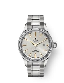 Buy Tudor Style Watch Review Replica 28 mm steel case Silver dial m12100-0017