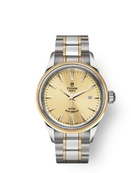 Buy Tudor Style Watch Review Replica 28 mm steel case Steel and yellow gold bezel m12103-0001