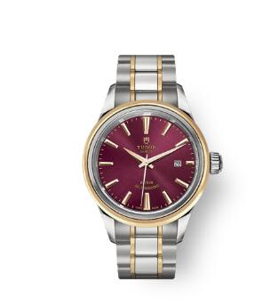 Buy Tudor Style Watch Review Replica 28 mm steel case Steel and yellow gold bezel m12103-0013