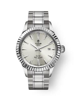 Buy Tudor Style Watch Review Replica 28 mm steel case Silver dial m12110-0001