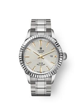 Buy Tudor Style Watch Review Replica 28 mm steel case Silver dial m12110-0005