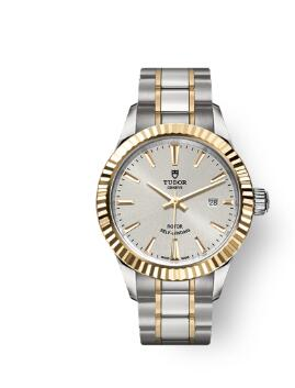 Buy Tudor Style Watch Review Replica 28 mm steel case Yellow gold bezel m12113-0003