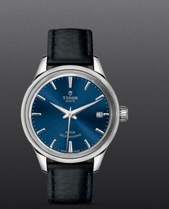 Replica Watch Tudor Style 34mm steel case blue dial m12300-0016