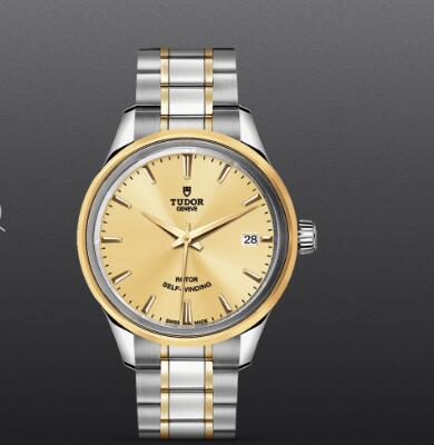 Fake Watch Tudor Style 34mm steel case steel and yellow gold bezel m12303-0001