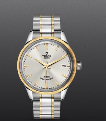 Tudor Style Replica Watch 34mm steel case steel and yellow gold bezel m12303-0002