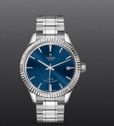 Tudor Style Swiss Replica Watch 34MM Steel Case blue dial m12310-0013
