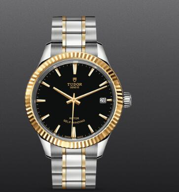 Fake Watch Tudor Style 34mm steel case yellow gold bezel m12313-0005