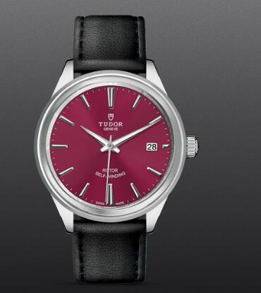 Tudor Style Swiss Replica Watch 38mm steel case burgundy dial m12500-0012