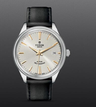 Tudor Style Swiss Replica Watch 38mm steel case silver dial m12500-0018