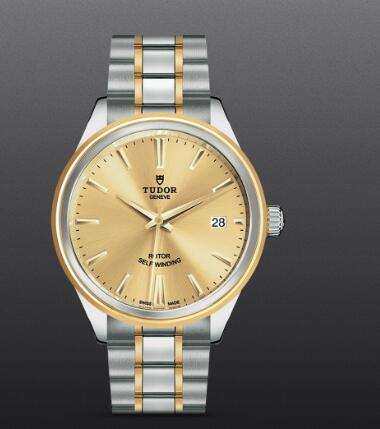 Fake Tudor Style Swiss Watch 38MM steel case steel and yellow gold bezel m12503-0001