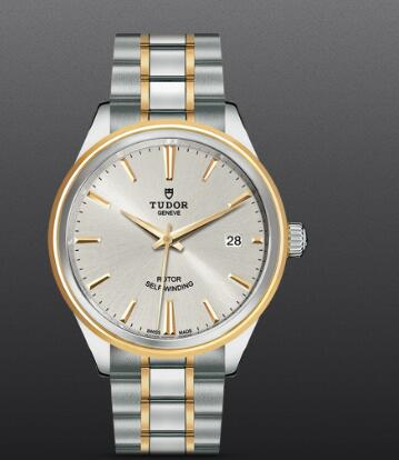Fake Tudor Style Swiss Watch 38mm steel case steel and yellow gold bezel m12503-0002