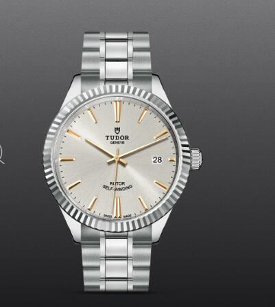 Tudor Style Swiss Fake Watch 38mm steel case silver dial m12510-0005