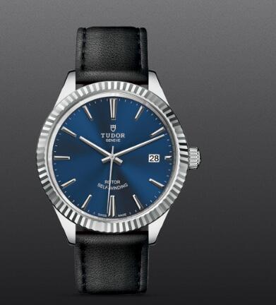 Tudor Style Swiss Fake Watch 38mm steel case blue dial m12510-0027