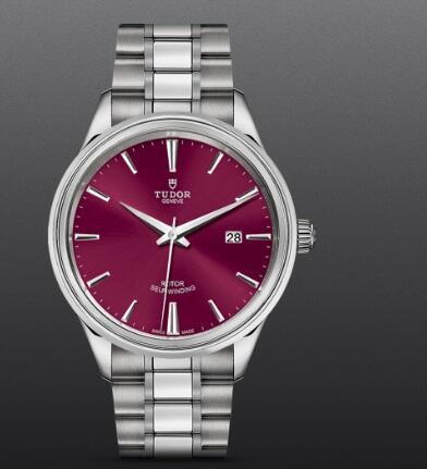 Replica Tudor Style Swiss Watch 41MM steel case burgundy dial m12700-0011
