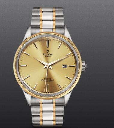 Replica Tudor Style Swiss Watch 41mm steel case steel and yellow gold bezel m12703-0001